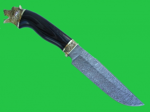 Knife the Taiga 1 with molding (Damask steel)