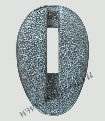Гарда без упора №3 из мельхиора вид спереди