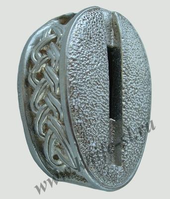 Гарда без упора №3 из мельхиора вид под углом