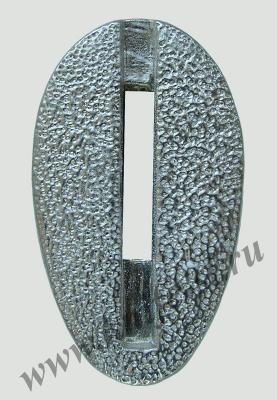 Гарда без упора №4 из мельхиора вид спереди