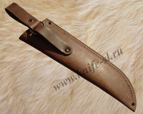 Чехол для ножа № 1, вид сзади, где показана конструкция подвеса