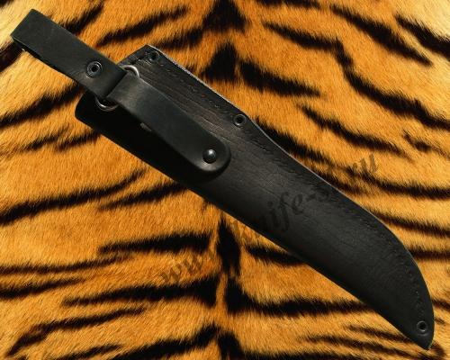 Чехол для ножа № 5, вид сзади, где показана конструкция подвеса