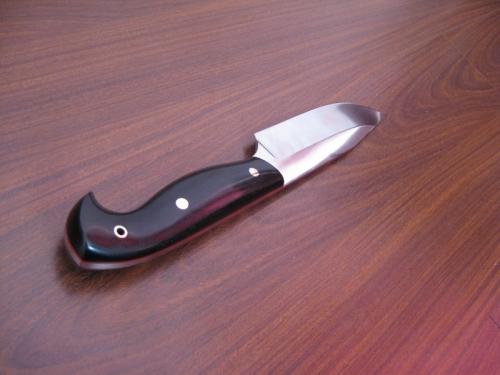 Нож Аскет - сталь D2, граб (черный)