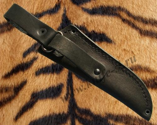 Чехол для ножа № 8, вид сзади, где показана конструкция подвеса