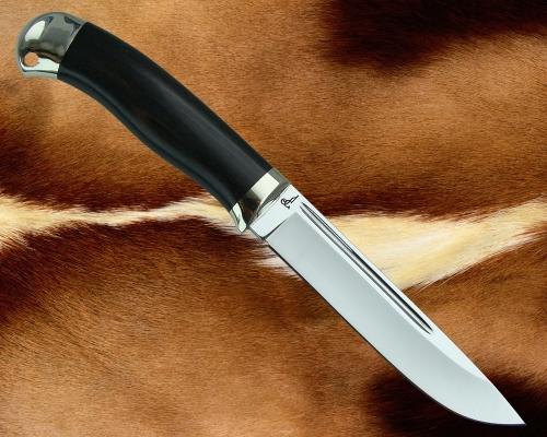 Нож Финский с гладким литьём из мельхиора (сталь D2)