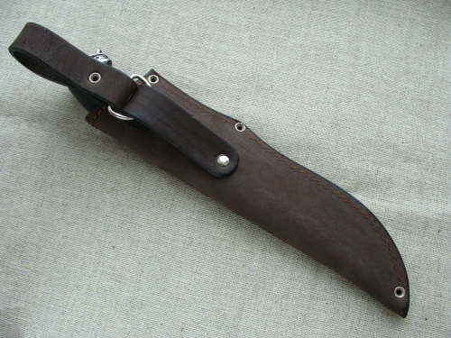 Нож Промысловый в чехле, обратная сторона