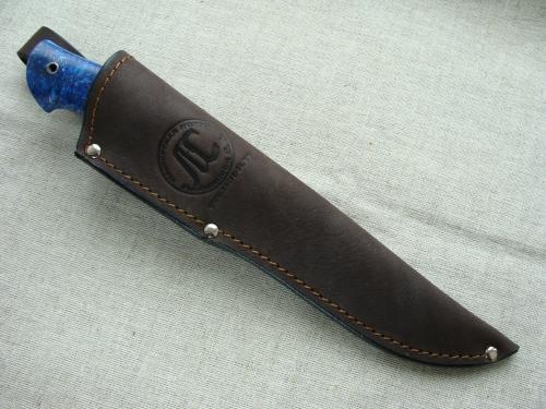 Нож Лесник 1 с мельхиоровой гардой (сталь D2, акрил) - глухой монтаж