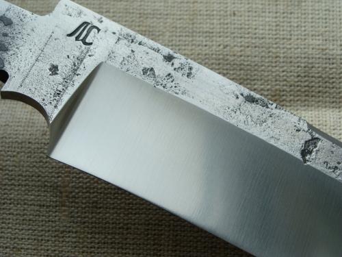 Клинок Лесник со следами ковки, сатин (сталь 9ХС)