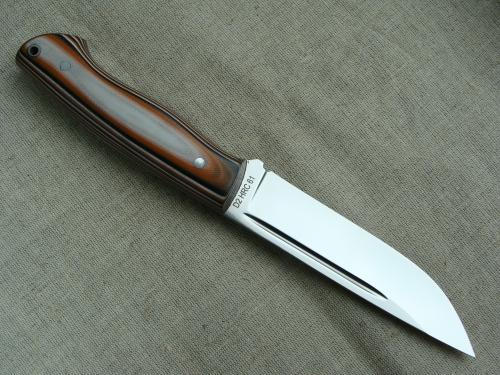 Цельнометаллический нож Финский (сталь D2, G 10)