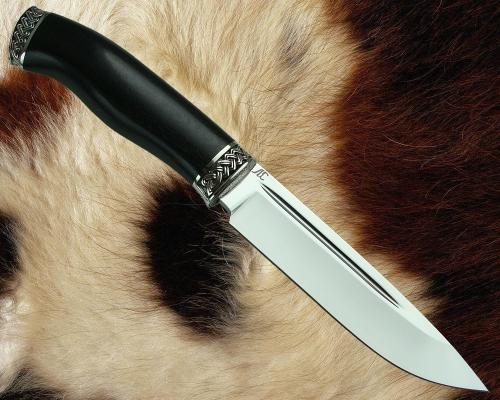 Нож Финский с литьём из мельхиора (сталь К110)