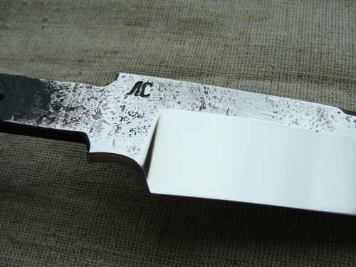 Клинок Лесник со следами ковки (сталь Х12МФ)