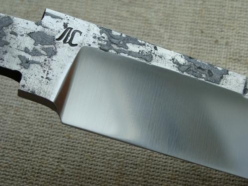 Клинок Промысловый со следами ковки, сатин (сталь Х12МФ)
