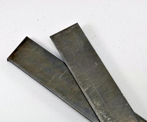 Полоса 250х25х4 мм. (сталь D2) без термообработки