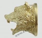 Голова Ревущий медведь (латунь)