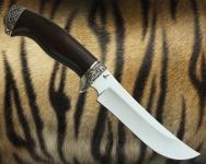 Нож Лось с литьём из мельхиора (Х12Ф1)