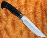 Нож Тайга 1 (сталь D2) с мельхиоровой гардой - сквозной монтаж