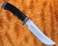 Нож Егерь с литьём из мельхиора (сталь D2)