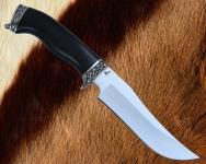 Нож Олень с литьём из мельхиора (сталь D2)