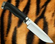 Нож Скиннер с гладким литьём из мельхиора (сталь D2)