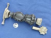 Комплект для кинжала ВДВ (мельхиор) с резной рукоятью