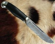 Нож Финский с литьём из мельхиора (дамаск)
