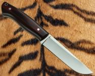 Цельнометаллический нож Промысловый (сталь К110) с фиброй и G 10