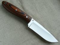 Цельнометаллический нож Скиннер с фальшлезвием (сталь D2) с фиброй и G 10